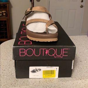 Corky's heavenly taupe sandal NWB